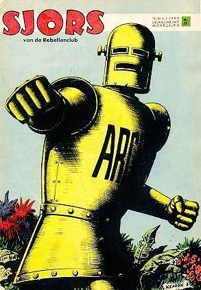 Robot Archie on the cover of the Dutch magazine Sjors