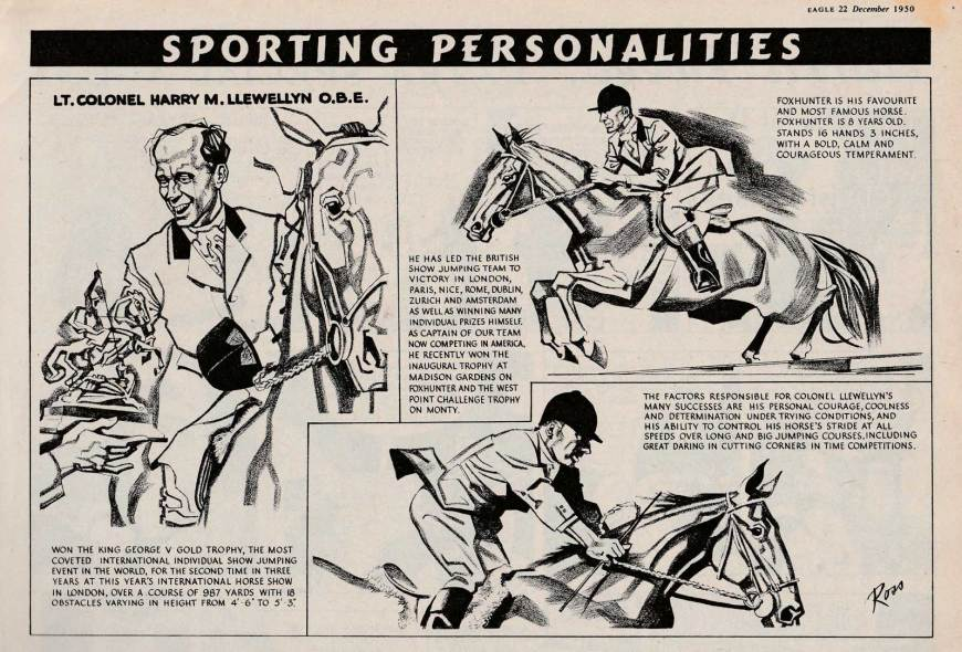 Eagle Sporting Personalities by Ross - Rom Smith - Eagle 22 December 1950