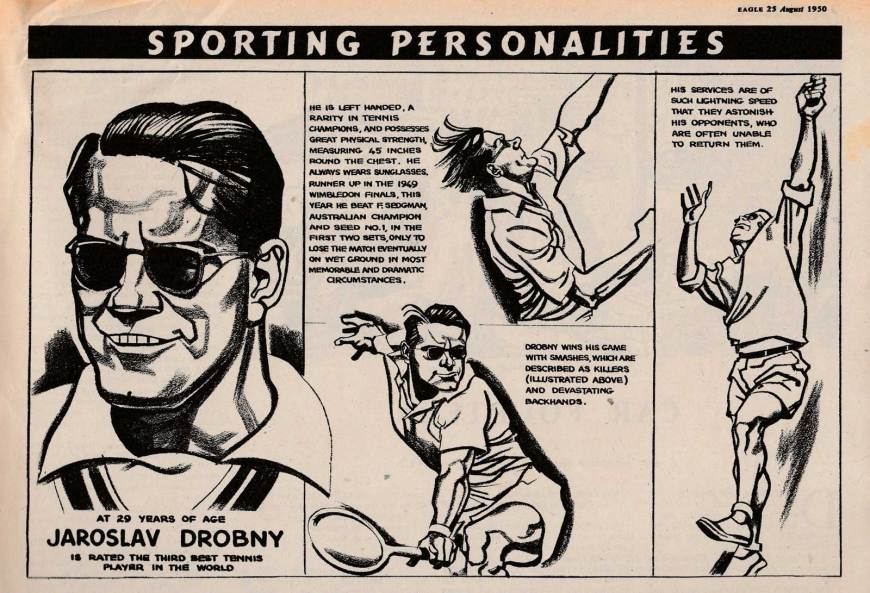 Eagle Sporting Personalities by Ross - Rom Smith - Eagle 25th August 1950