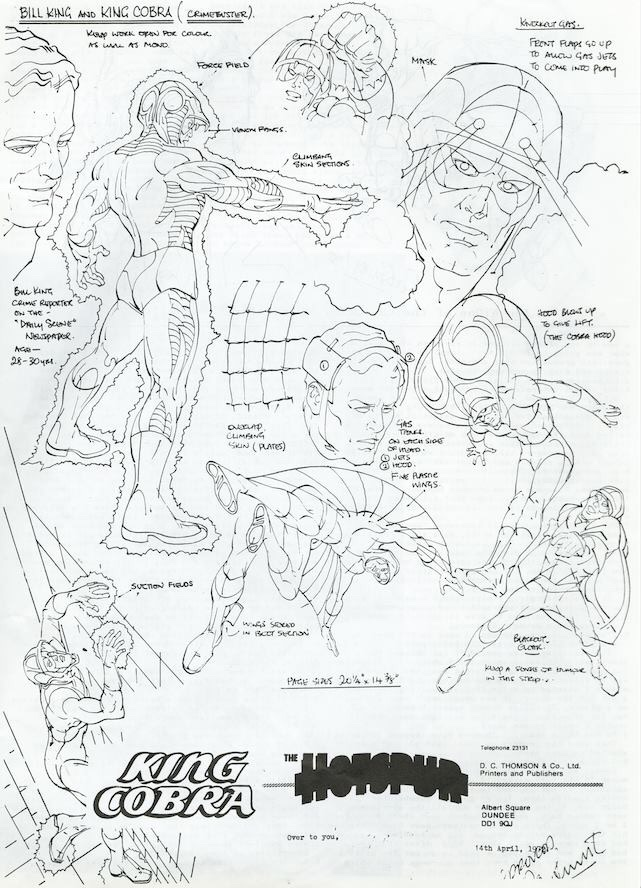 King Cobra Character Design by Ron Smith. Image © DC Thomson