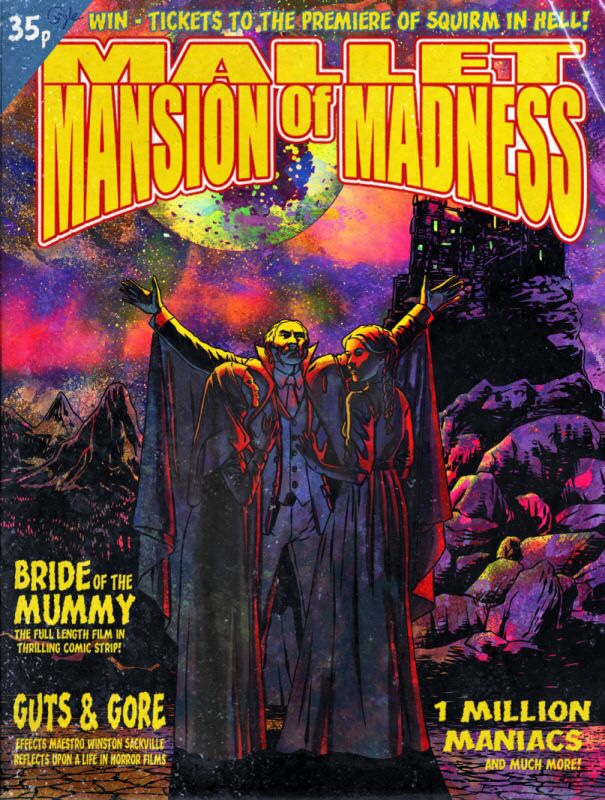 The cover of the first issue of the short-lived 1970s Mansion of Madness anthology