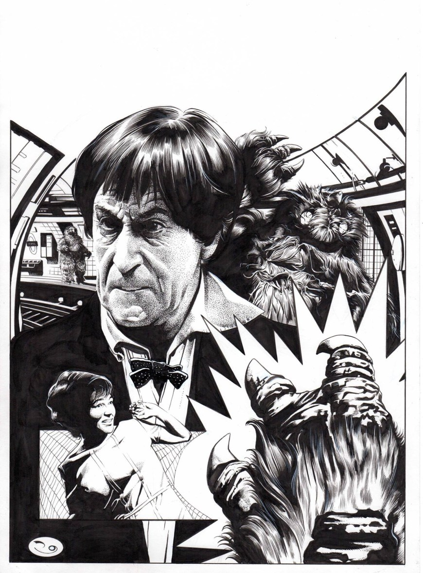 Lost in the vortex? Art by David Roach for a re-Issue of the Patrick Troughton Doctor Who story The Web of Fear