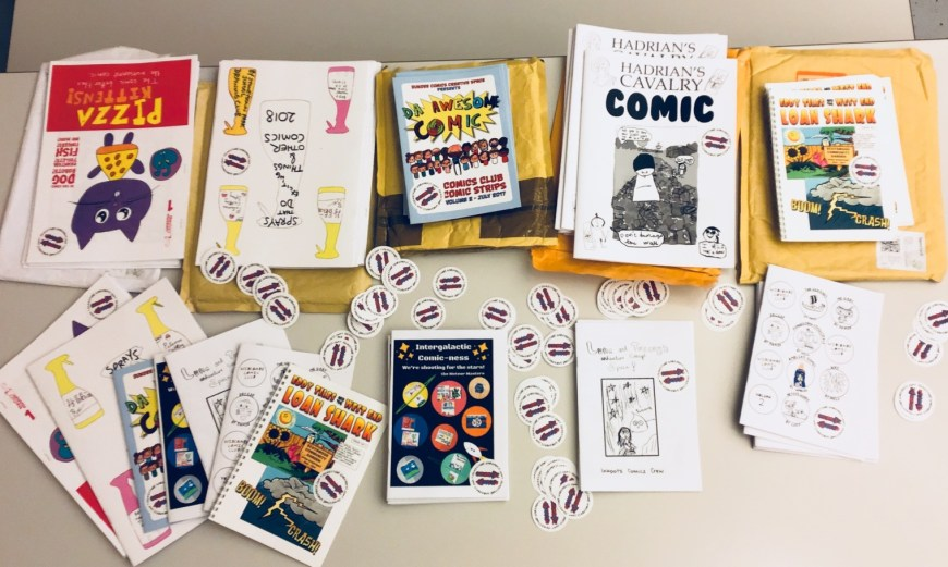 Children's comics created through different projects were shared across the UK thanks to an ambitious Comic Swap organised by Applied Comics