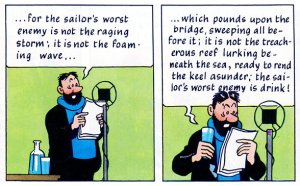 Tintin - Captain Haddock on the Radio