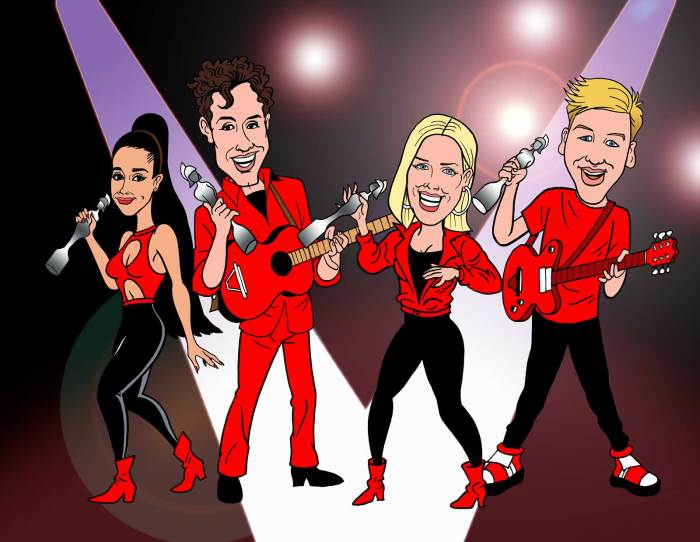 Beano readers have predicted the winners of this year's Brit Awards and Nigel Parkinson has turned them into comic characters. Image courtesy Beano Studios
