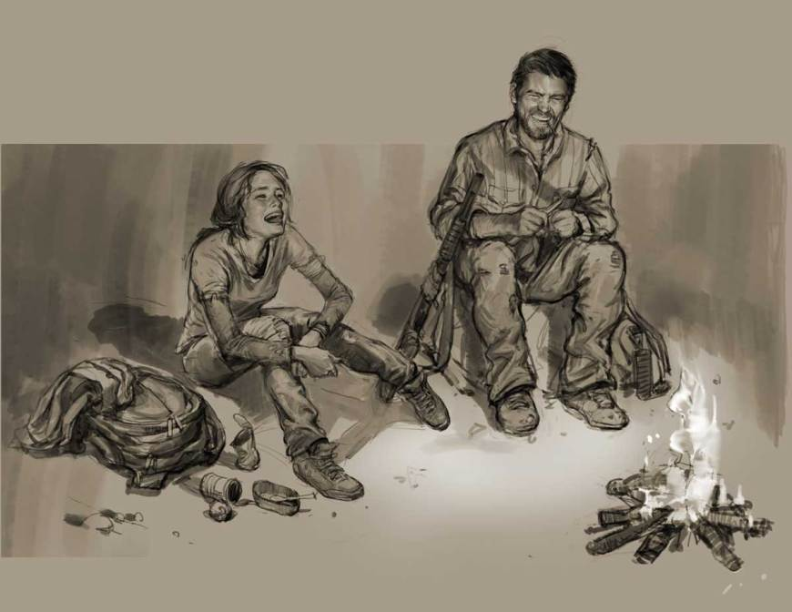 Character sketch, The Last of Us™ ©2013, 2014 Sony Interactive Entertainment LLC. The Last of Us is a trademark of Sony Interactive Entertainment LLC. Created and developed by Naughty Dog LLC