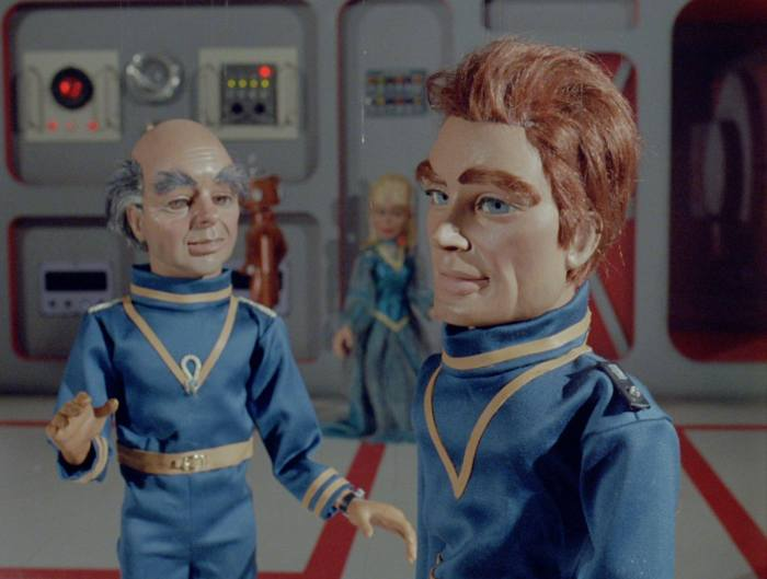 """Century 21 Films created """"moon Rangers"""" for the """"Apollo"""" episode of ITV's Endeavour. The puppet on the left is modelled on Inspector Morse creator Colin Dexter. Image: Century 21 Films"""
