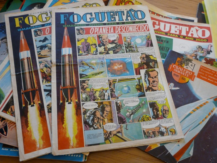 Foguetao was fashioned on and named after the short-lived British comic Rocket - but it carried strips from Eagle, including Dan Dare - making it a 'Portuguese Eagle' Image: Eagle Times