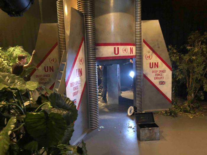"""One of the """"Mission to the Unknown"""" sets recreated by the UCLan team. Photo courtesy Nicholas Briggs"""
