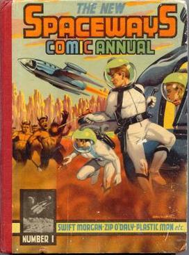 New Spaceways Comic Annual #1 (1954). Cover art by Denis McLoughlin