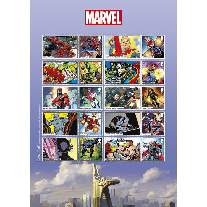 Royal Mail 2019 - Marvel Special Issue Stamps - Generic Set