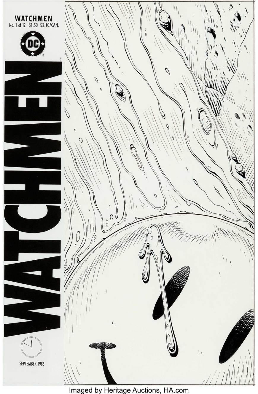Dave Gibbons Watchmen #1 Cover Original Art (DC, 1986)