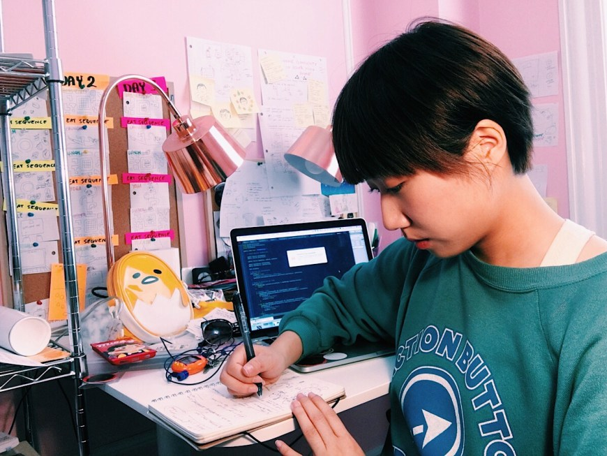 Games designer Jenny Jiao Hsia in her workplace © Jennifer Jiao Hsia