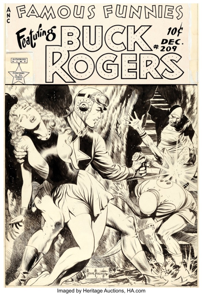 Famous Funnies #209 Buck Rogers cover by Frank Frazetta