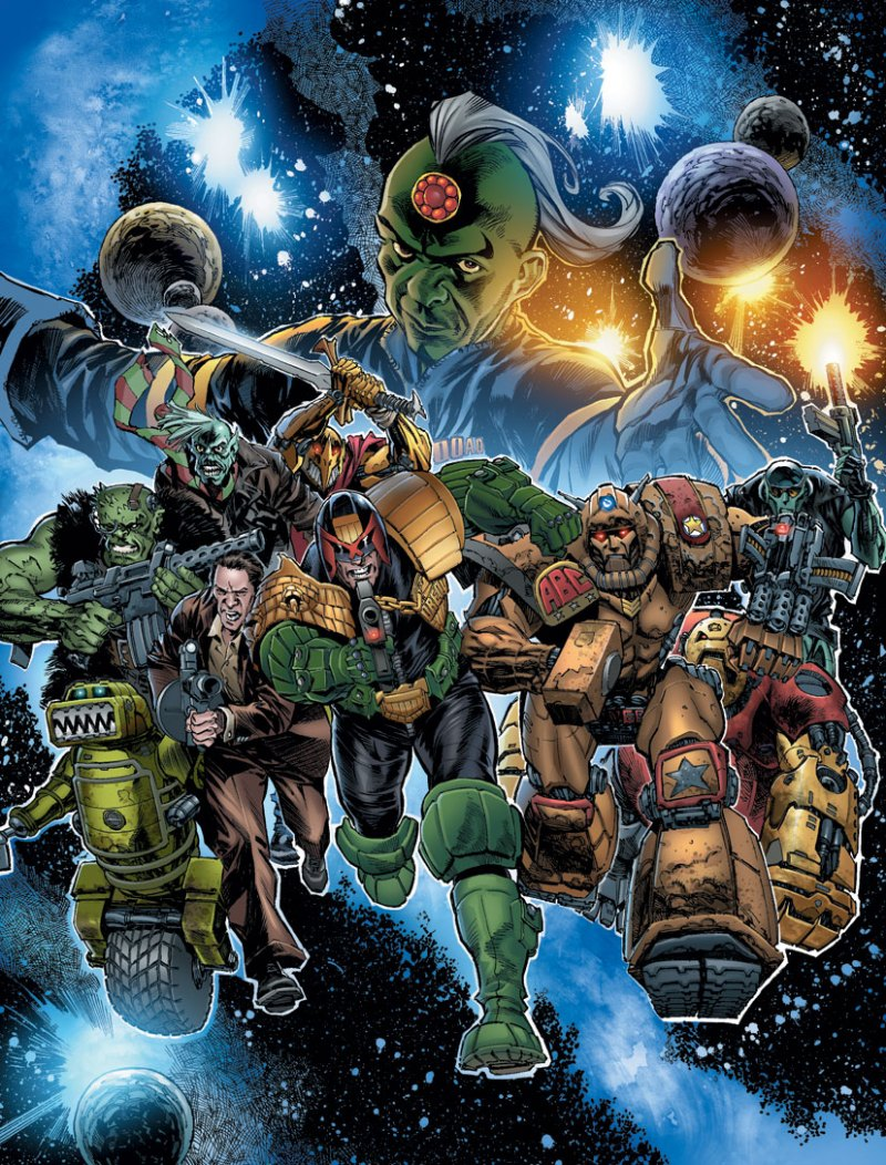 2000AD Christmas Cover by Staz Johnson