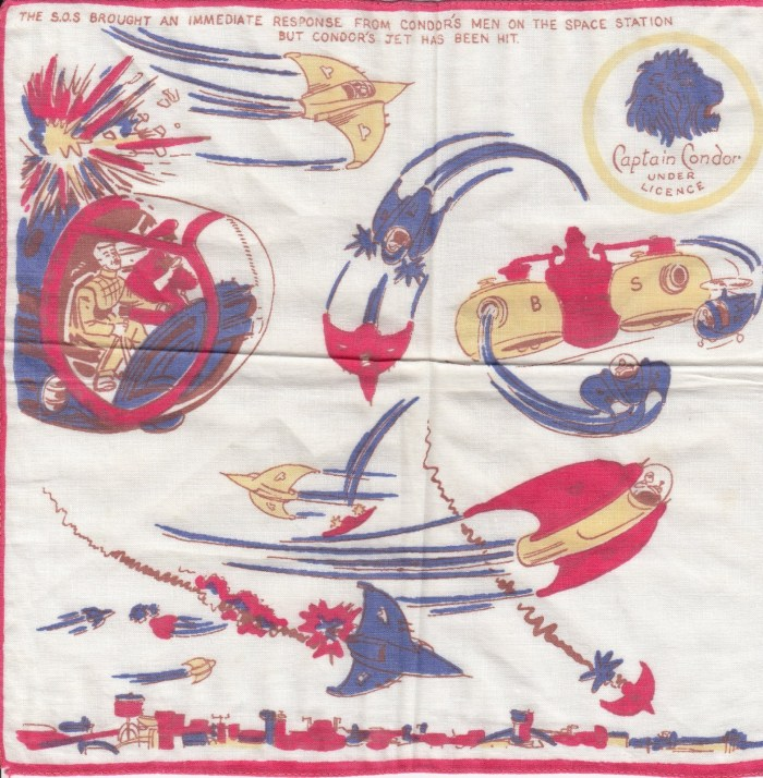 One of a number of Captain Condor handkerchiefs discovered by downthetubes contributor Richard Sheaf