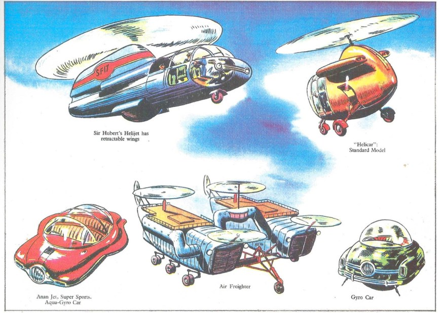 "More designs for ""Dan Dare"" created by the team on the strip, featured in the Dan Dare Pop Up Book published in 1953 by Hulton Press"