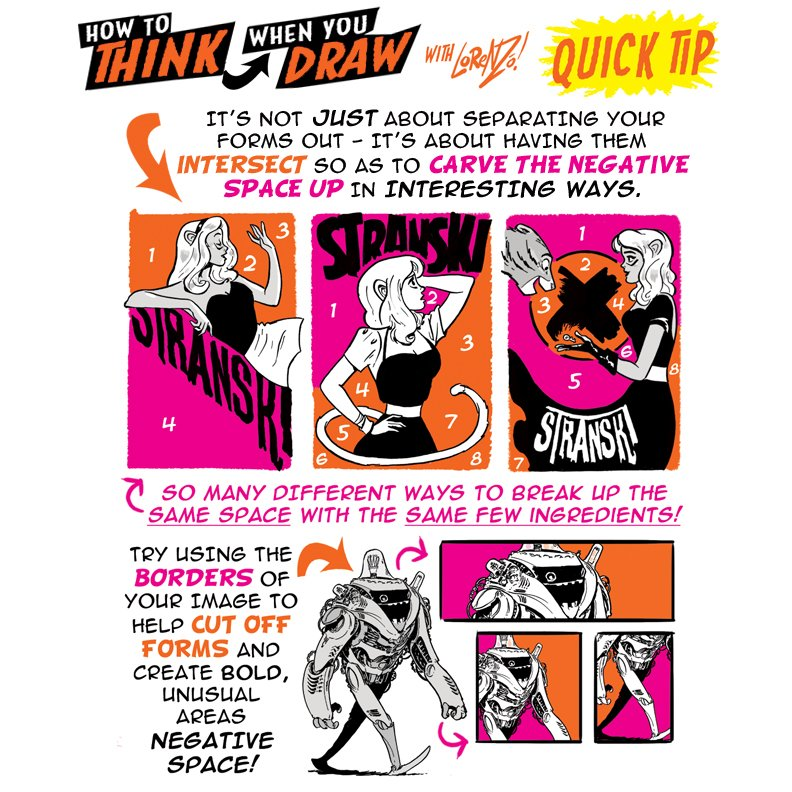 How to THINK when you draw Sample - art by Lorenzo Etherington