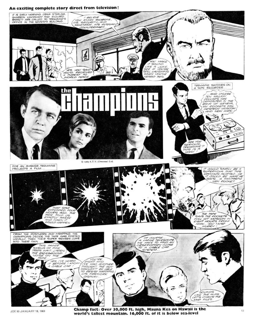 "The opening page of ""The Champions"" from Joe 90 Issue One"