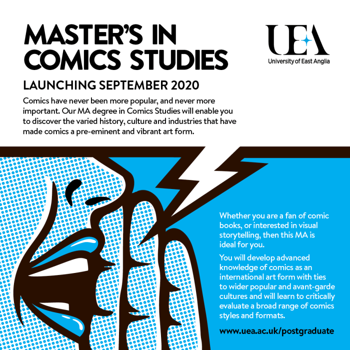 University of East Anglia Master's in Comic Art Announcement