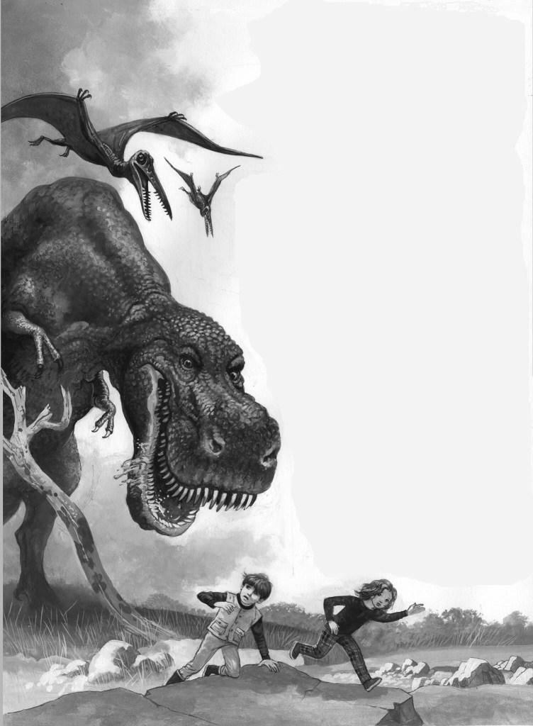 Heroes! magazine art - Dinosaur
