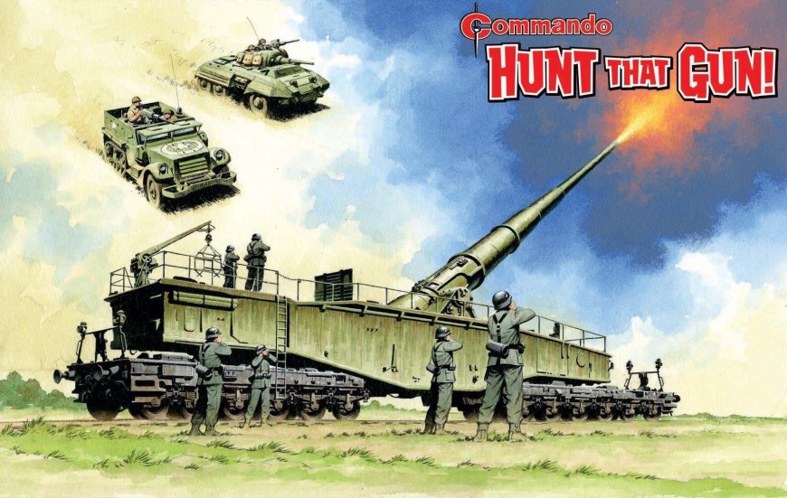 The full cover by Ian Kennedy for Commando 5214 - Silver Collection: Hunt that Gun!