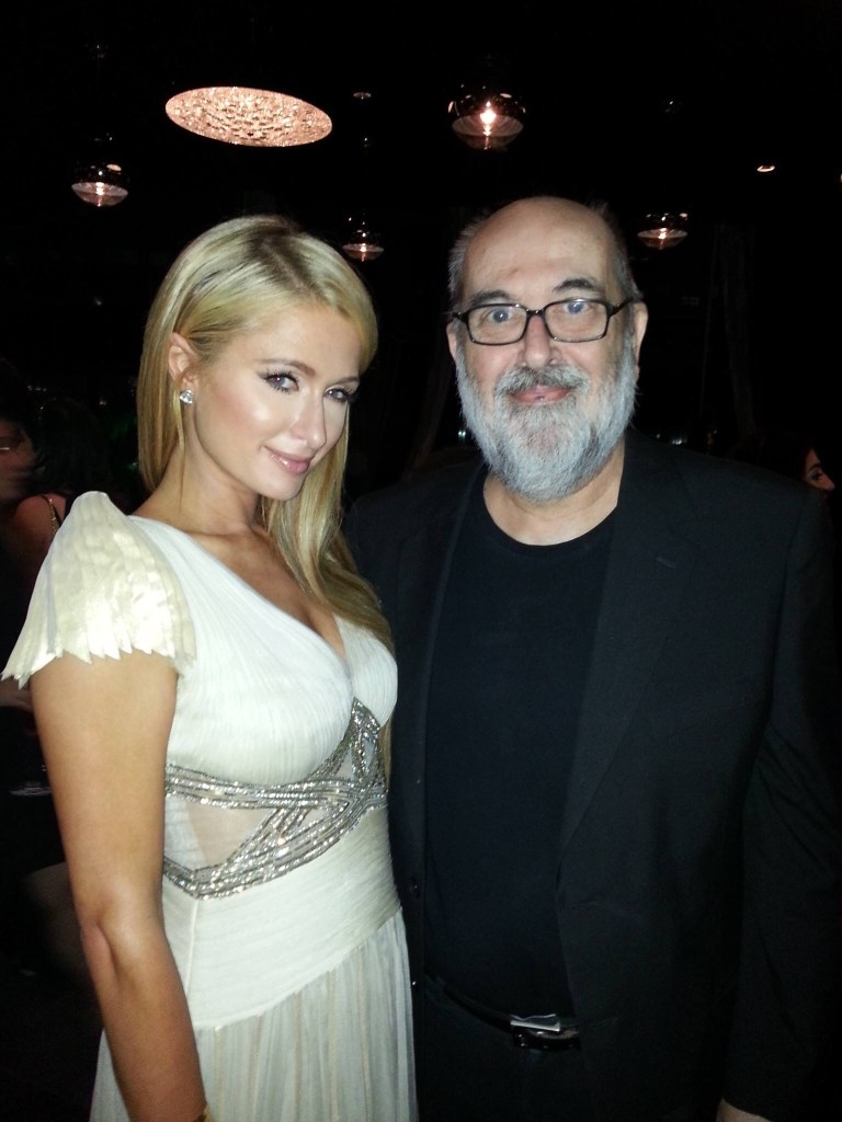 Dave Reeder, out on the town with Paris Hilton in 2014