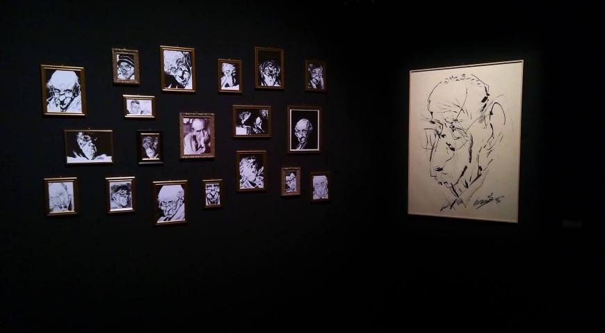 """One of many images of the """"Les mondes fantastiques d'Alberto Breccia"""" exhibition posted to Facebook by the Alberto Breccia web team"""