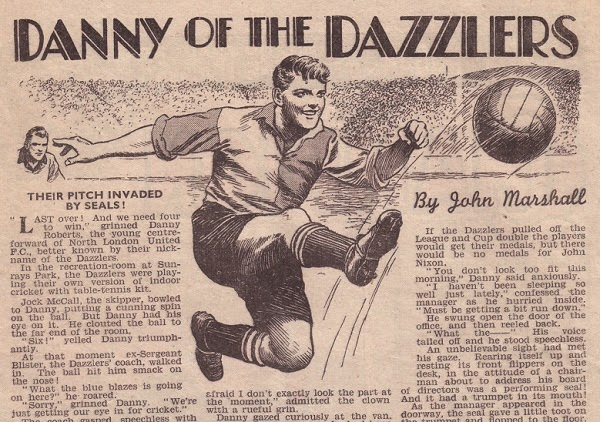 """Danny of the Dazzlers"" from The Champion Issue 1471, cover dated 8th April 1950. With thanks to Jeremy Briggs"