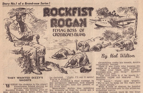 """Rockfist Rogan"" from The Champion Issue 1471, cover dated 8th April 1950. With thanks to Jeremy Briggs"