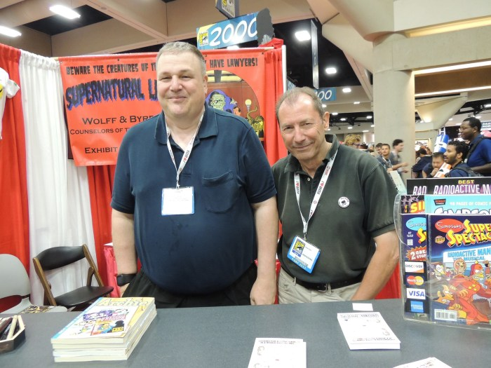 James Hudnall and David Lloyd at San Diego Comic Con in 2013. Photo courtesy Robyn Hill
