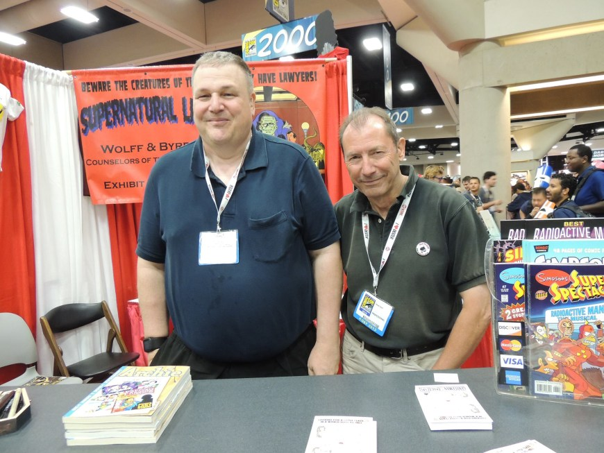 James Hudnall and David Lloyd at San Diego Comic Con in 2013. Photo courtesy Robyn Hill