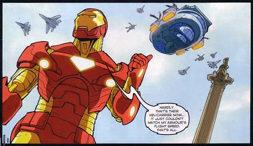 Iron Man by Nelson's Column in Spectacular Spider-Man 163