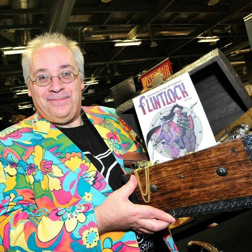 Steve Tanner, public face of Time Bomb Comics - whether he like it or not!