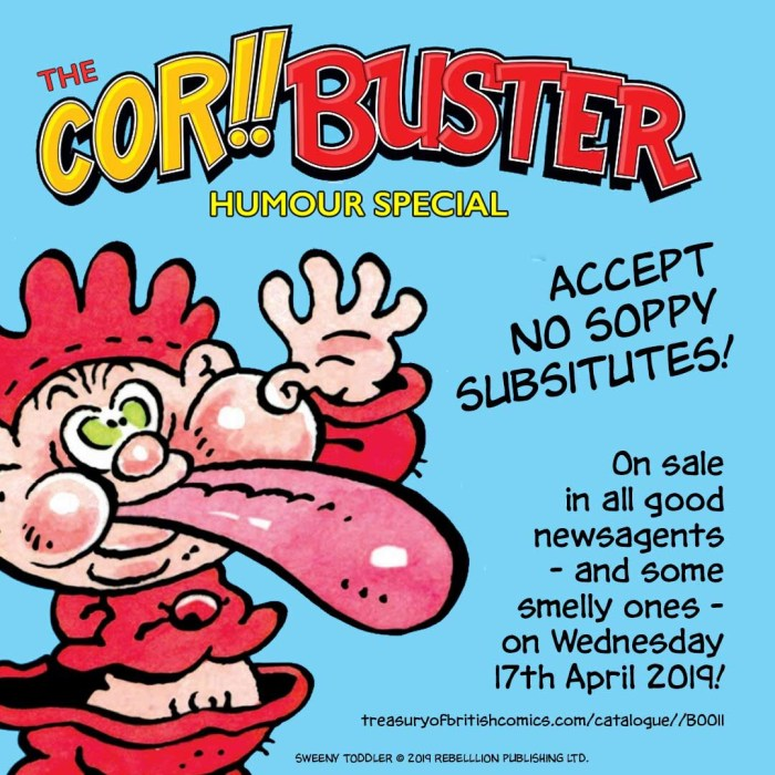 Authorised promotional Cor!! and Buster Special Promotion
