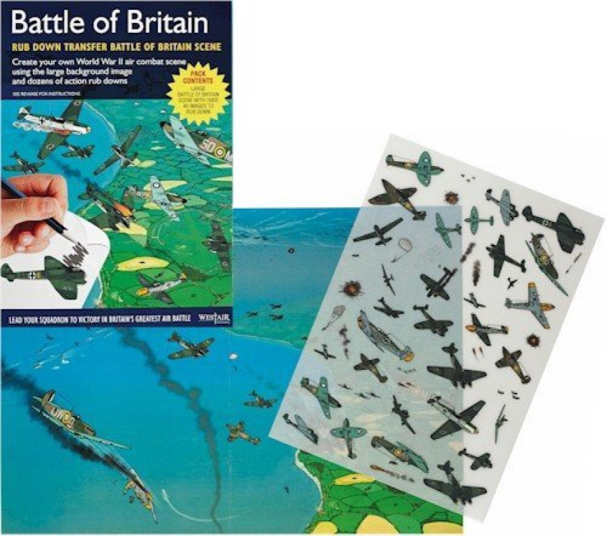 """Westair Reproductions """"Battle of Britain"""" Rub-Down Transfers"""