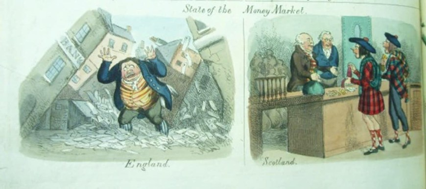 Banker satire in the Looking Glass