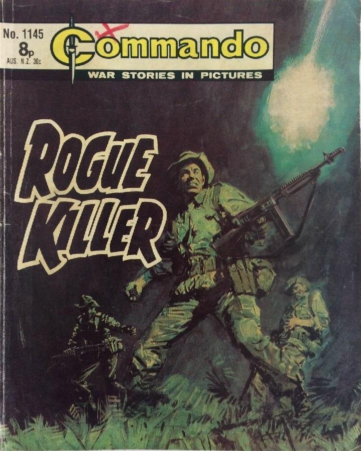 Commando 1145 - Rogue Killer Cover by Jordi Longaron