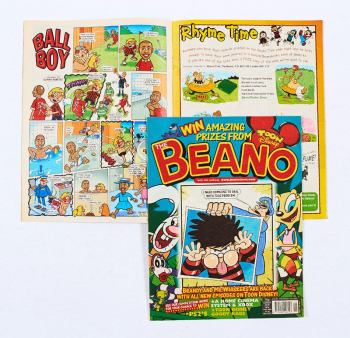 """All 200,000 distribution copies of the original Beano 3260 were destroyed. The """"Henry Thierry"""" character featured in the comic's regular Ball Boy strip bore many resemblances to the Arsenal player. He was French, had a shaved head and wore a red football strip. In the story, the character was sent off during a match and takes an early bath. He also says 'Va-va-voom'! Editor, Euan Kerr, said at the time: 'In the cold light of day, we felt it might cause offence and we did not want to do that so the issue was reprinted with a replacement cartoon strip'. Only a few copies were retained by DC Thomson for reference."""
