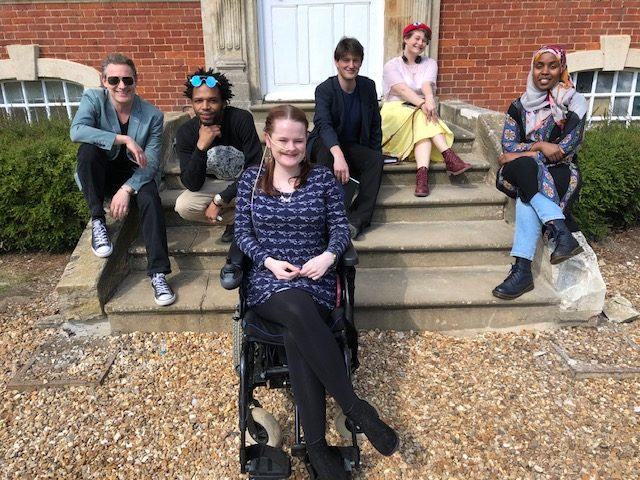 Pictured left to right: Breakthrough co-ordinator Tim Pilcher with participants Danny Christie, Hannah Hodgson, Michael Lightfoot, Abbigayle Bircham and Halima Hassan at Chicheley Hall, Buckinghamshire, in May 2019