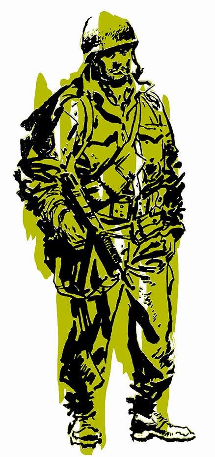 A memorable image by Jordi Longaron for the Spanish comic Hazanas Belicas