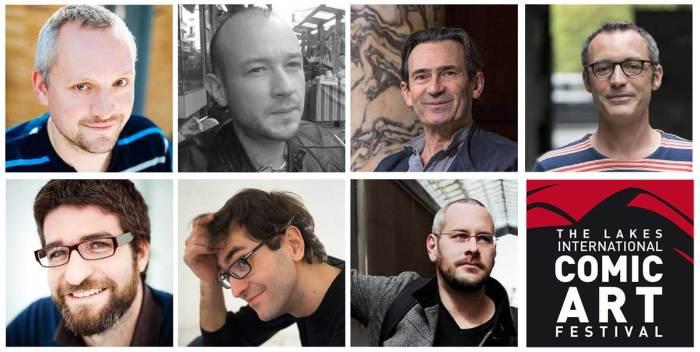 Lakes International Comic Art Festival Guests Jibé, Pierre van Hove,Benoit Peeters,Arthur de Pins,Fabien Toulme,Alessandro Tota and Nicolas Wild.