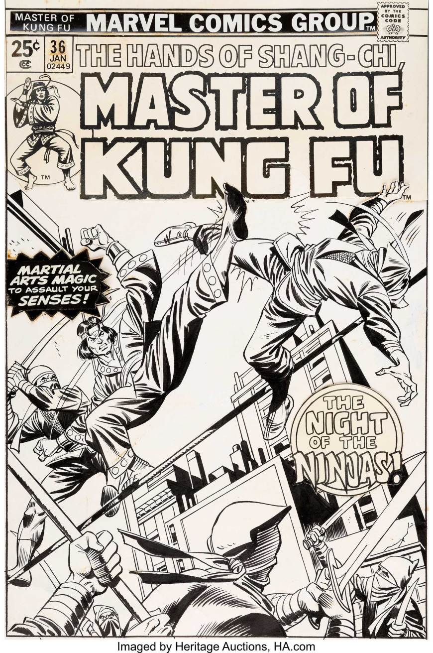 Master of Kung Fu#36 (Marvel, 1976) by Gil Kane and Mike Esposito