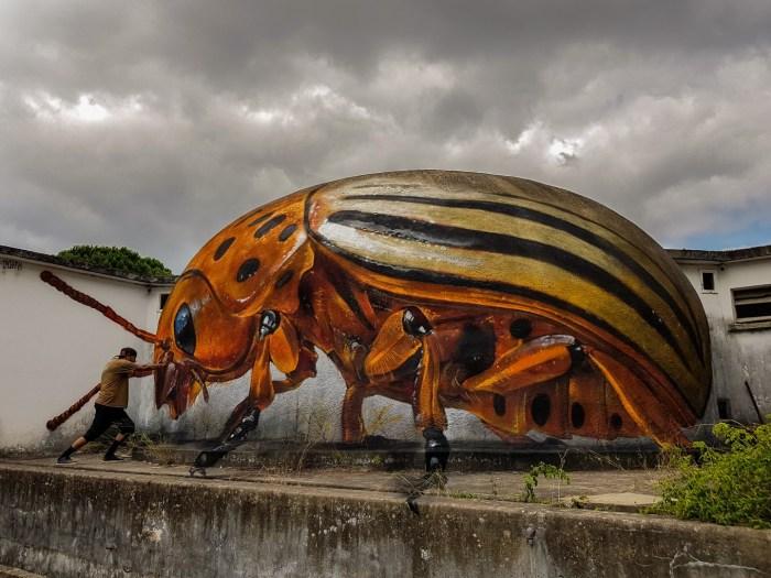 Odeith battles a giant Colorado Potato Beetle. Image: Odeith Official Site