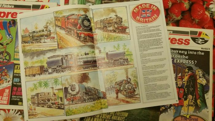 Rail Riders Express - Sample Spread