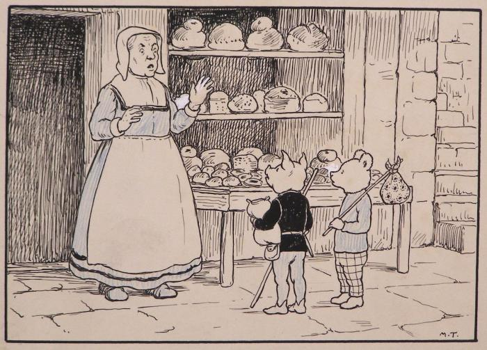 "A panel from ""Rupert and the Little Prince"" by Mary Tourtel, first published in 1930"