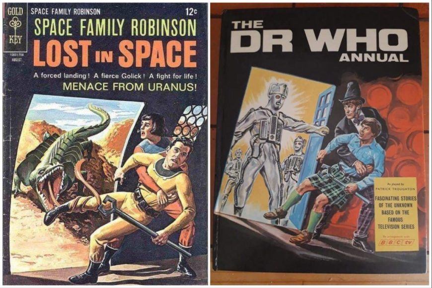 Lost in Space and 1969 Doctor Who annual covers, side by side