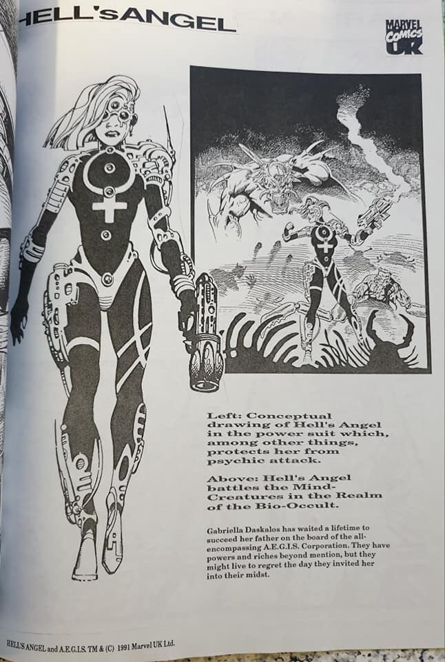 United Kingdom Comic Art Convention Marvel UK Booklet
