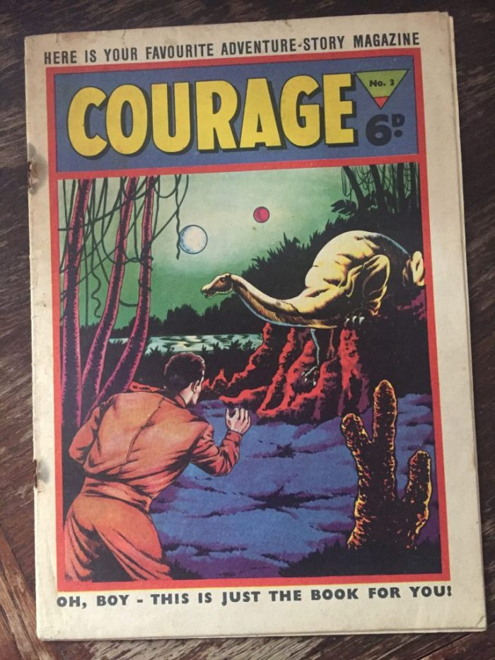 L. Miller's Courage #3. The cover is believed to be the work of Mick Anglo