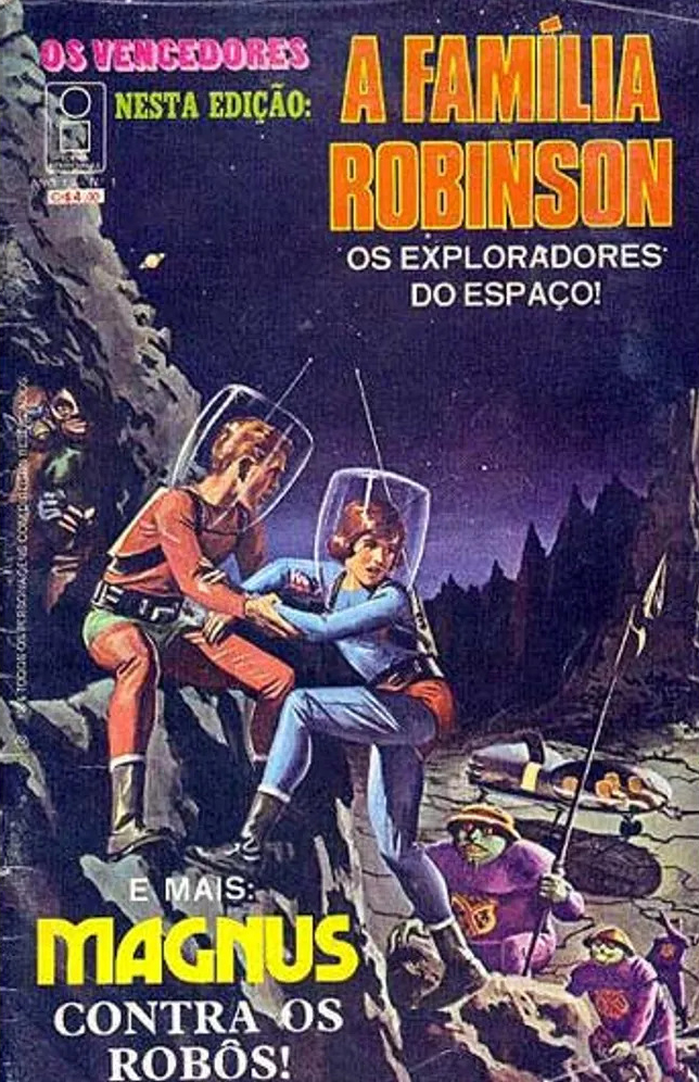 Os Vencedores - A Familia Robinson #1, published in Brazil in 1976